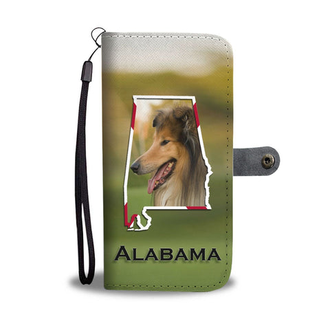 Cute Rough Collie Print Wallet Case-Free Shipping-AL State