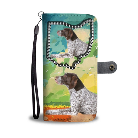 German Short Haired Pointer Print Wallet Case-Free Shipping-OH State