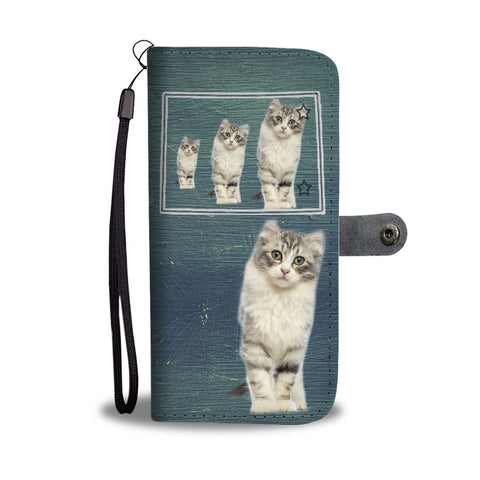 American Curl Cat Print Wallet Case-Free Shipping-CO State