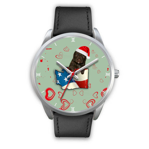 Cute Spanish Water Dog Washington Christmas Special Wrist Watch-Free Shipping