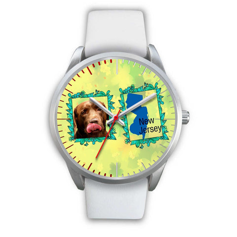 Chocolate Labrador Dog New Jersey Christmas Special Wrist Watch-Free Shipping