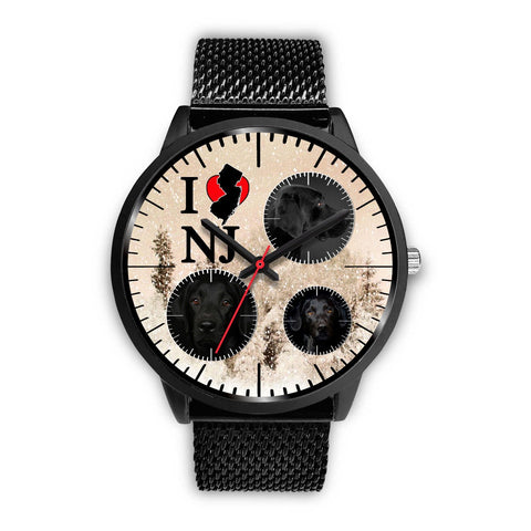 Black Labrador New Jersey Christmas Special Wrist Watch-Free Shipping