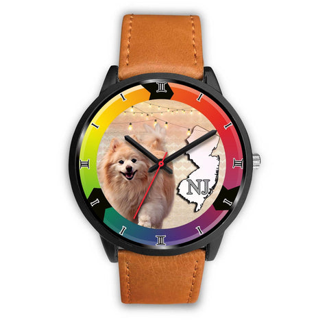Cute Pomeranian Dog New Jersey Christmas Special Wrist Watch-Free Shipping