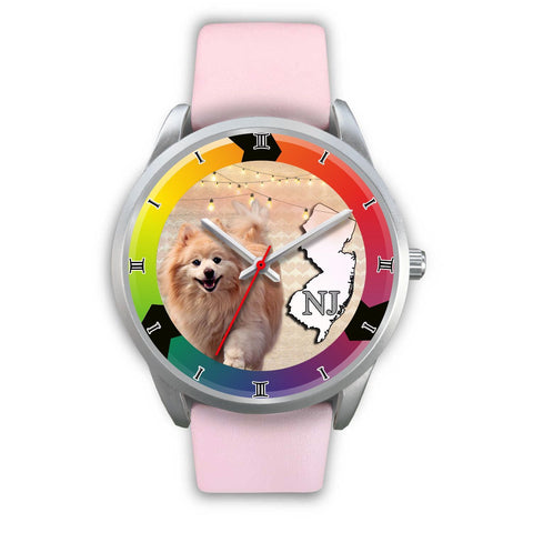 Lovely Pomeranian Dog New Jersey Christmas Special Wrist Watch-Free Shipping