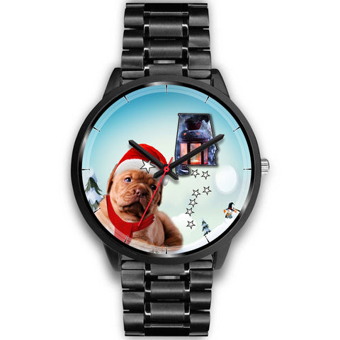 Bordeaux Mastiff Alabama Christmas Special Wrist Watch-Free Shipping
