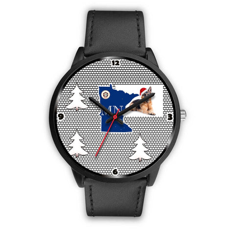 German Shepherd Dog Minnesota Christmas Special Wrist Watch-Free Shipping