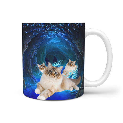 Cute Birman Cat Print 360 Mug