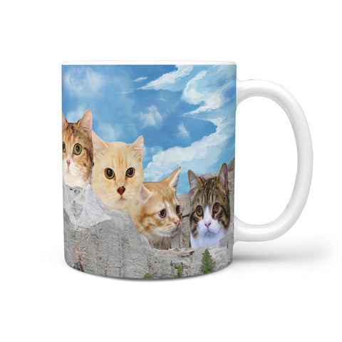 Lovely Munchkin Cat On Rushmore Print 360 Mug