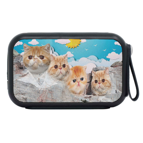 Exotic Shorthair Cat On Mount Rushmore Print Bluetooth Speaker