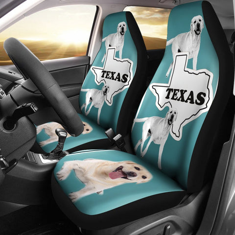 Labrador Retriever Print Car Seat Cover-Free Shipping-TX State