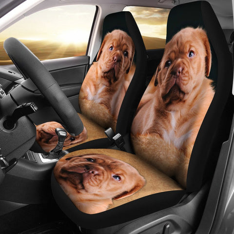 Cute Bordeaux Mastiff Print Car Seat Covers-Free Shipping
