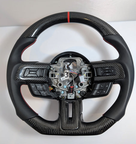 Carbon Fiber Steering Wheel For Mustang 2015-2017