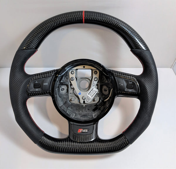 Carbon Fiber Steering Wheel For Audi R8 TTRS RS6 RS3(Manual Car)