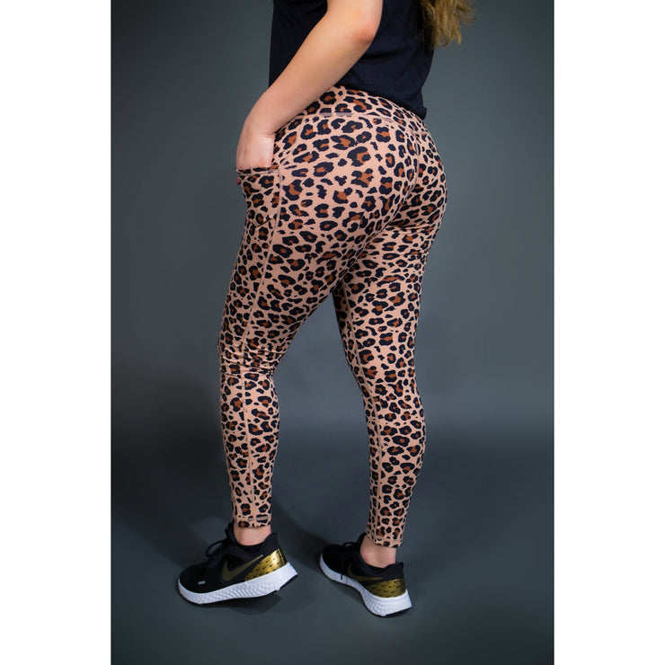 CHEETAH LEGGINGS W/ POCKETS