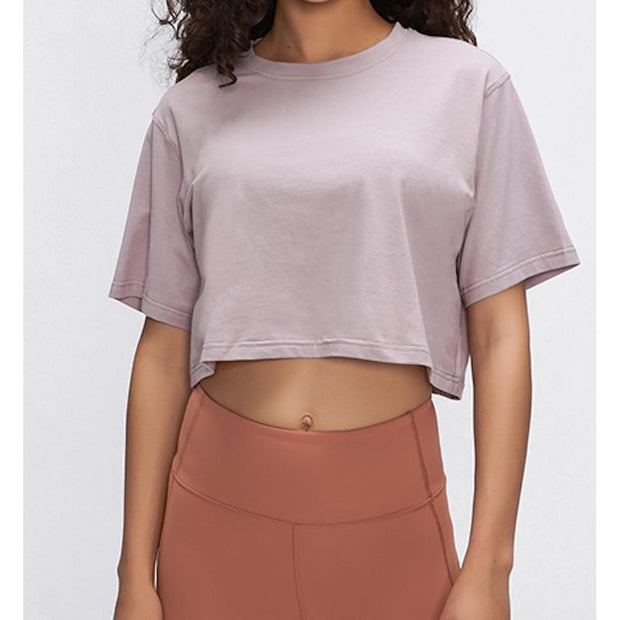 CROPPED T - PINK TAUPE