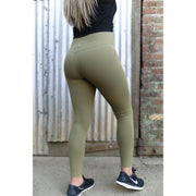Khaki green leggings by Honey Athletica