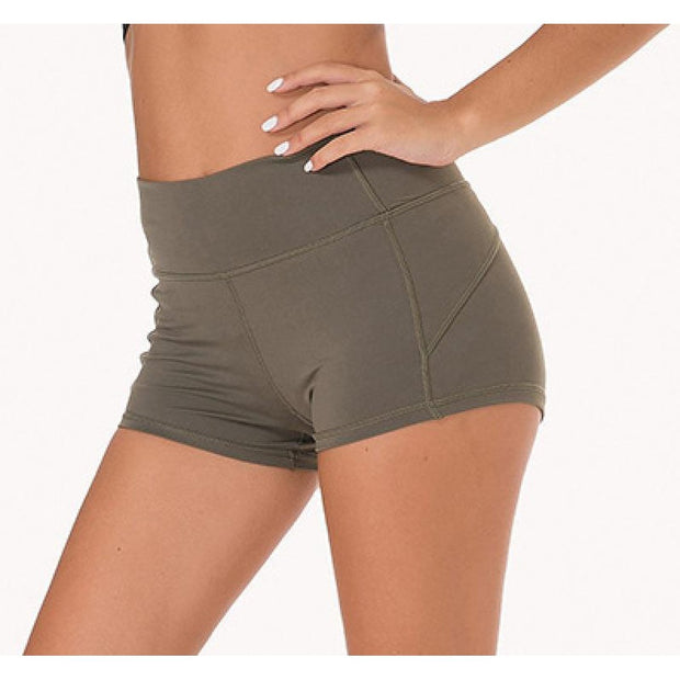 "FLEX 3"" SHORTS - ARMY GREEN-Shorts-Honey Athletica"