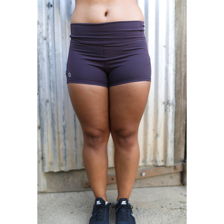 Plum shorts by Honey Athletica