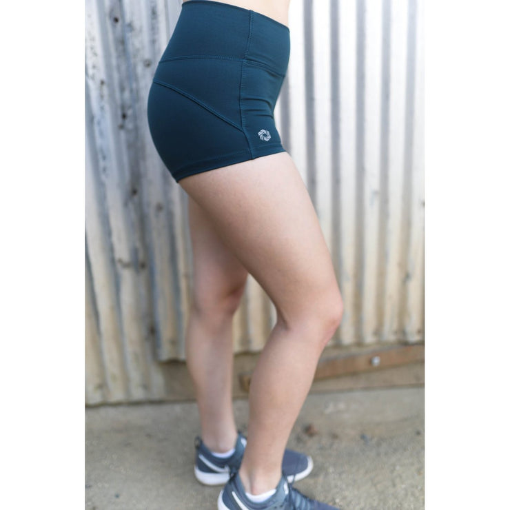 Teal shorts by Honey Athletica
