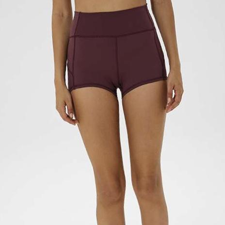 "FLEX 3"" SHORTS - WINE-Shorts-Honey Athletica"