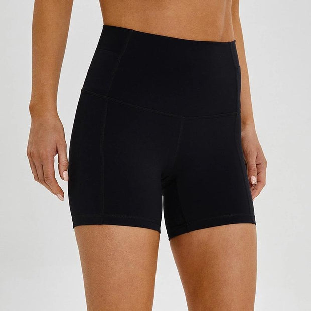 "FLEX 5"" SHORTS - BLACK-Shorts-Honey Athletica"