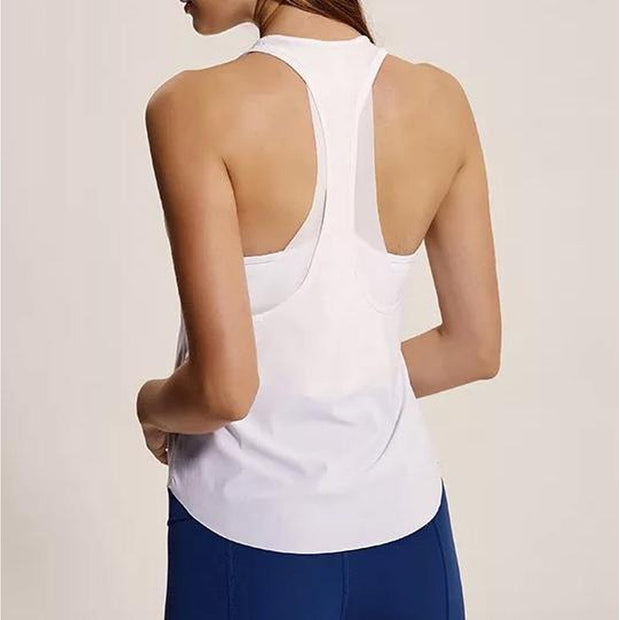 FREEDOM TANK TOP - WHITE-Tank Top-Honey Athletica