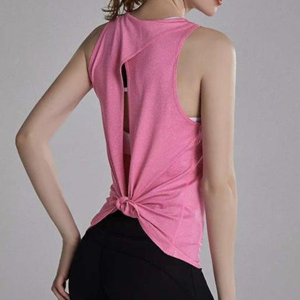 FUN & FREE TANK TOP - PINK-Tank Top-Honey Athletica