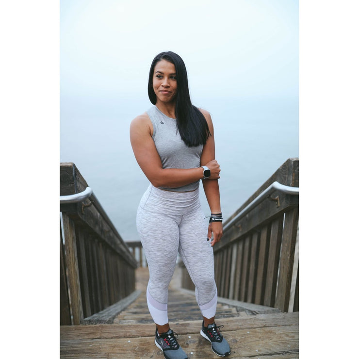 GRACEFUL - WHITE-Leggings-Honey Athletica