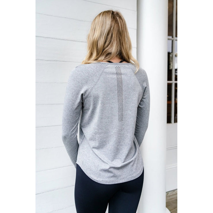 TEMPO LONG SLEEVE TEE - GRAY