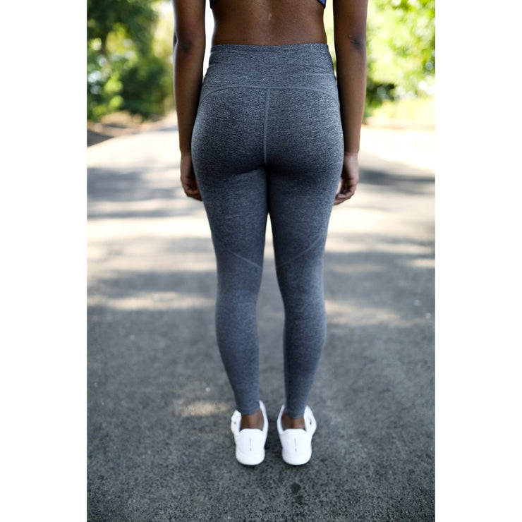 Blue gray heathered leggings by Honey Athletica