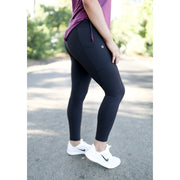 Black with pockets leggings by Honey Athletica