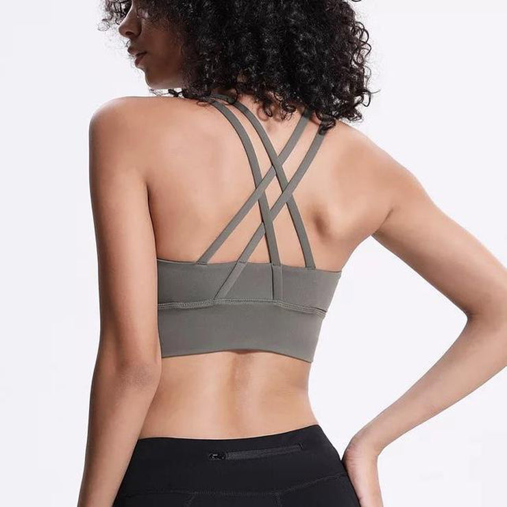 LIMITLESS BRA - ARMY GREEN-Bras-Honey Athletica