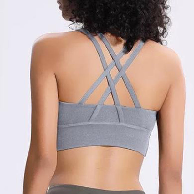LIMITLESS BRA - GRAY-Bras-Honey Athletica