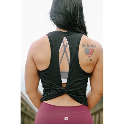 MOTIVATE TANK - BLACK-Tank Top-Honey Athletica