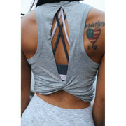 MOTIVATE TANK - GRAY-Tank Top-Honey Athletica