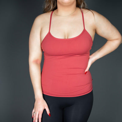 SIGNATURE Y TANK - SUNSET RED