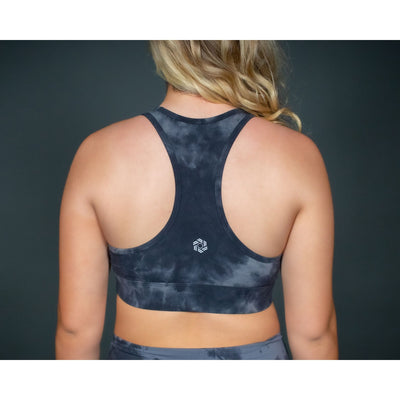 *LIMITED EDITION* TIE DYE BRA - BLACK