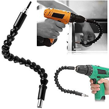 Flexible drill bit extension