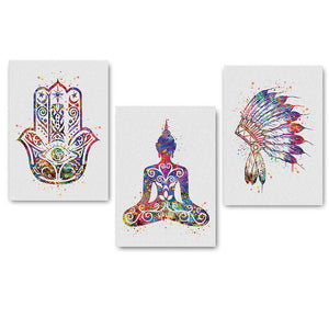 Colorful Yoga Peace Posters