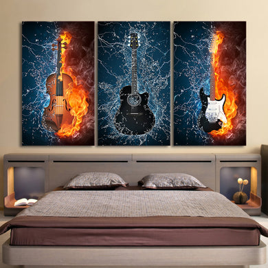 3 pieces Burning Fire Guitars