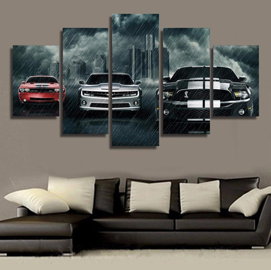 Group Muscle Cars Wall Art