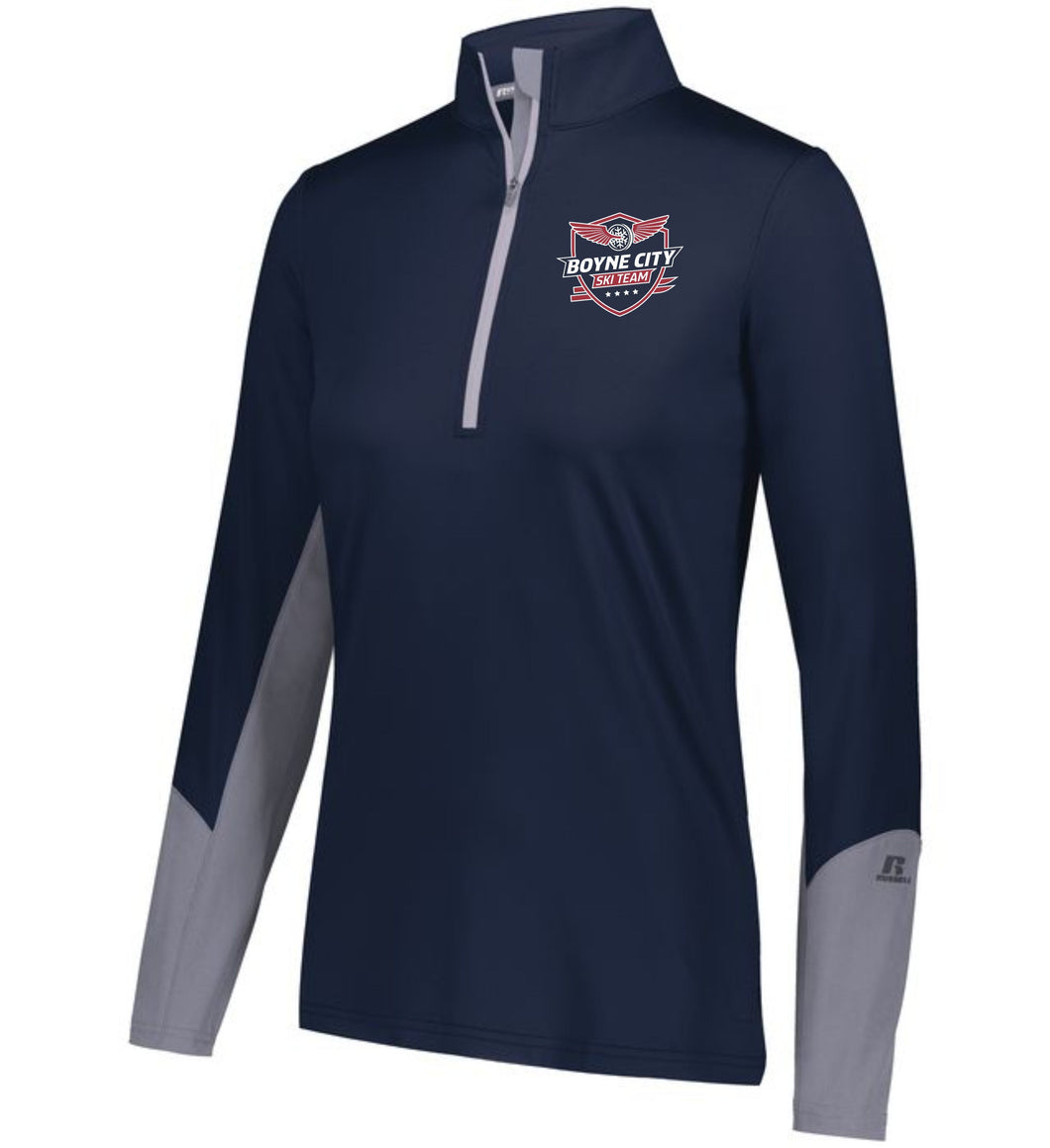 Ladies 1/4 Zip Hybrid Pullover