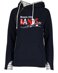 Ladies Varsity Double Hood Pullover