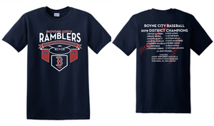 2019 District Baseball Champions Shirts