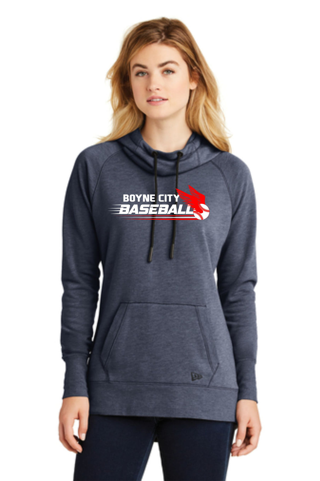 Ladies Tri-Blend Hooded Sweatshirt