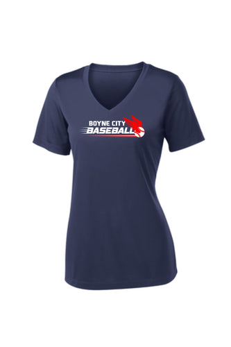 Ladies V-Neck Performance Short Sleeve