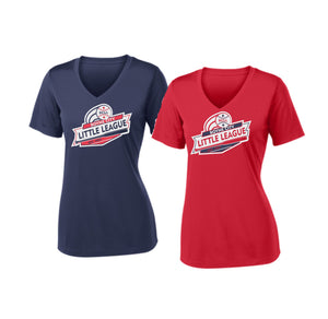 BCLL Ladies V-Neck Performance Short Sleeve
