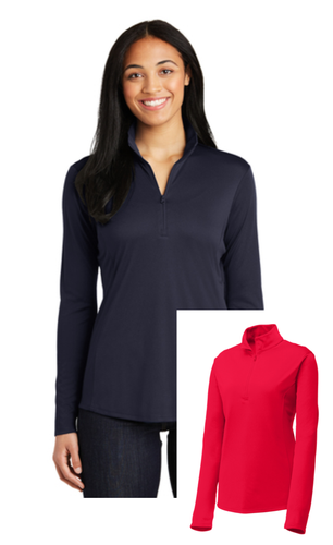 Ladies 1/4 Zip Performance Pullover