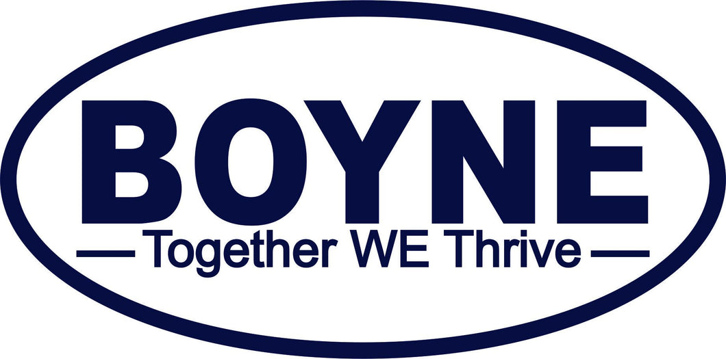 Boyne Together WE Thrive Decal