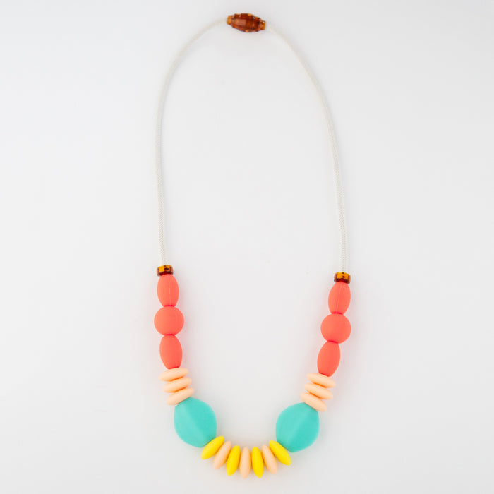 Rainbow Orb Teething Necklace  by January Moon